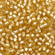 Toho 11/0 Seed Beads, Frosted Silver Lined Light Topaz 22F - 10 grams